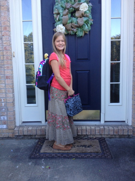 First day of fifth grade (aka last first day of elementary school)