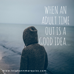 When an Adult time out is a good idea...